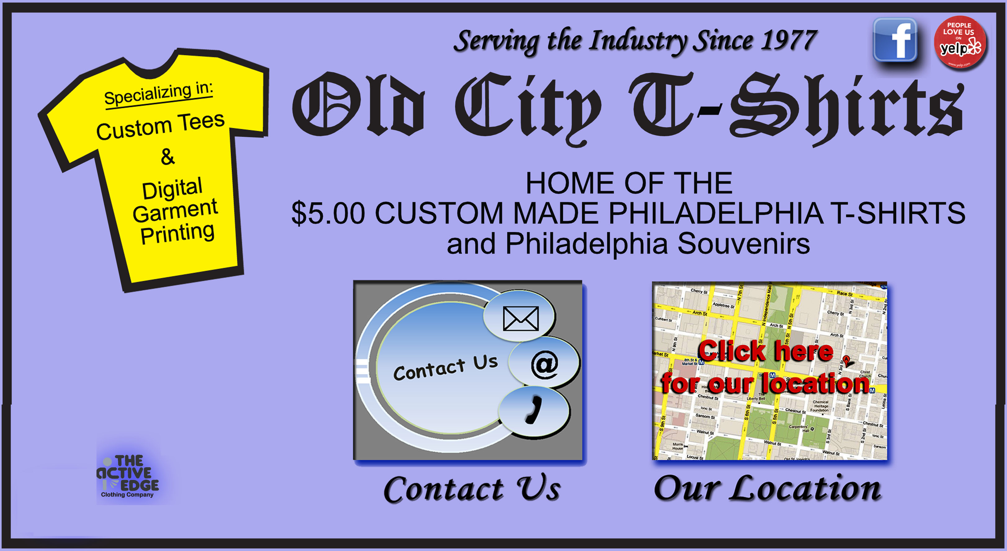 Old city t shirts in philadelphia home of the custom for Custom t shirts under 5 dollars